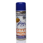 Graxa Náutica Spray •Indicada para lubrificar e proteger as peças náuticas que necessitam de uma graxa náutica de alta performance. •Anticorrossivo. •Não sai em contato com a água. •Não contém CFC.